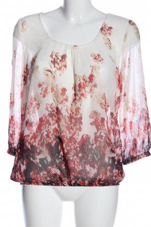 More & More Schlupf-Bluse abstraktes Muster Business-Look