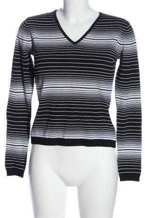 More & More Schlupf-Bluse schwarz-weiß Streifenmuster Casual-Look
