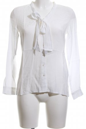 More & More Tie-neck Blouse white business style