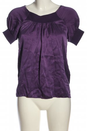 More & More Kurzarm-Bluse lila Casual-Look