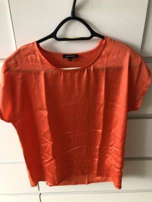 More&More Shirt - 36, orange - vorn glänzend hinten Shirt Stoff