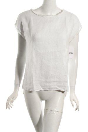 More & More Shirt weiß Transparenz-Optik