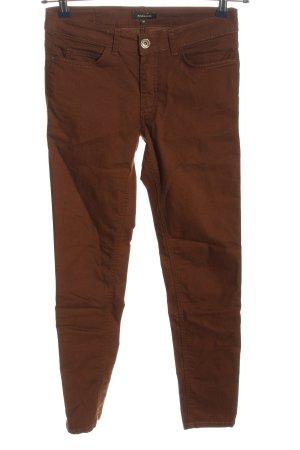 More & More Dopasowane jeansy brąz W stylu casual