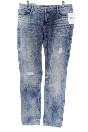 More & More Slim Jeans blau-himmelblau Farbverlauf Casual-Look