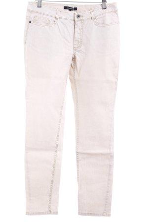 More & More Slim Jeans creme-goldfarben Casual-Look
