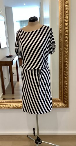 More & More  Sommerkleid  Gr.40  weiß / dunkelblau