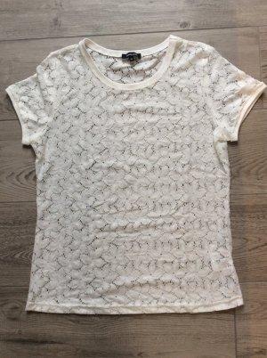 More & More Spitzen Shirt Gr 40 offwhite