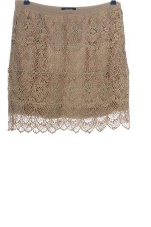 More & More Falda de encaje marrón elegante