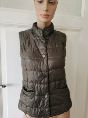 More & More Quilted Gilet dark brown polyamide
