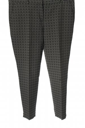 More & More Stoffhose hellgrau Allover-Druck Business-Look