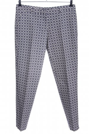 More & More Stoffhose weiß-hellgrau grafisches Muster Casual-Look