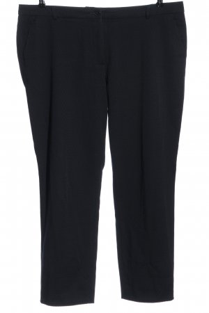 More & More Stoffhose blau grafisches Muster Business-Look