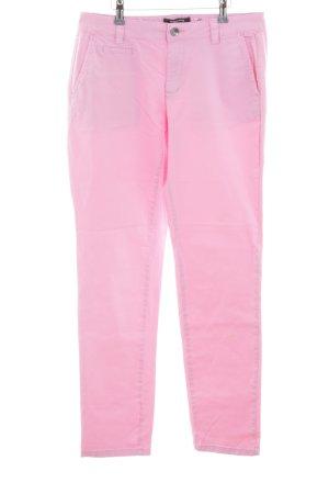More & More Stoffhose pink schlichter Stil