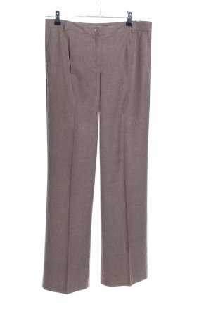 More & More Stoffhose braun meliert Business-Look