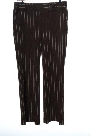 More & More Stoffhose schwarz-weiß Streifenmuster Casual-Look