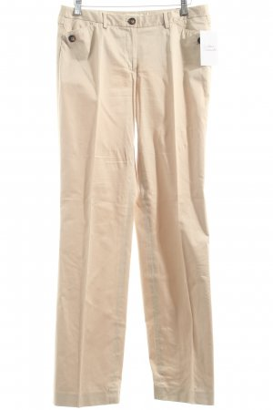More & More Stoffhose hellbeige Streifenmuster Casual-Look