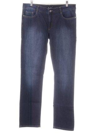 More & More Jeansy z prostymi nogawkami ciemnoniebieski W stylu casual