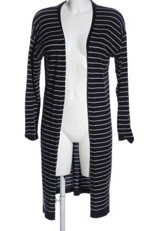 More & More Strick Cardigan schwarz-weiß Streifenmuster Casual-Look