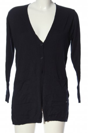 More & More Strick Cardigan schwarz Business-Look