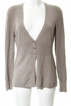 More & More Strick Cardigan wollweiß meliert Casual-Look