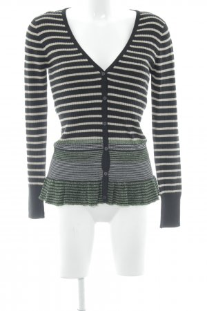 More & More Strick Cardigan Streifenmuster Casual-Look