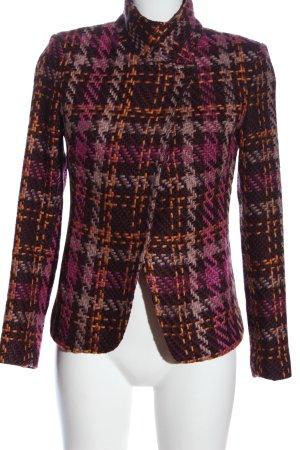 More & More Gebreide blazer geruite print zakelijke stijl