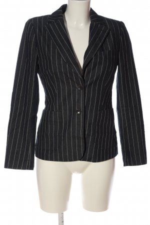 More & More Knitted Blazer black-natural white striped pattern business style