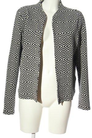 More & More Gebreide blazer zwart-wit volledige print elegant