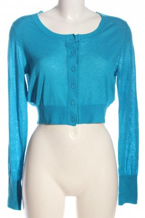 More & More Knitted Bolero blue flecked casual look