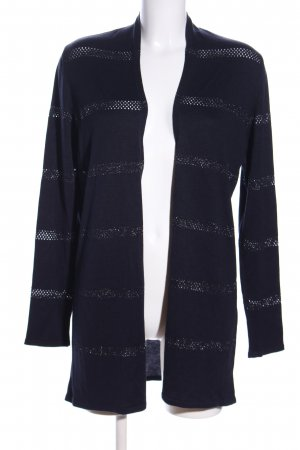 More & More Strickjacke blau Streifenmuster Casual-Look