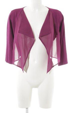 More & More Strickjacke violett schlichter Stil