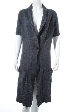More & More Strickmantel dunkelgrau-graublau klassischer Stil