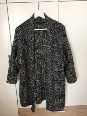 More & More Abrigo de punto negro-blanco