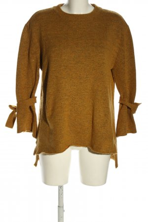 More & More Strickpullover braun meliert Casual-Look