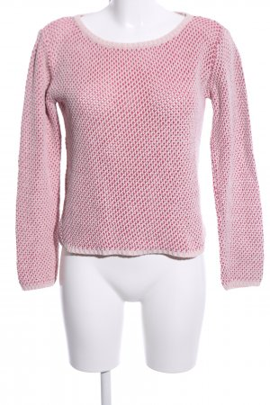 More & More Strickpullover pink-creme meliert Casual-Look