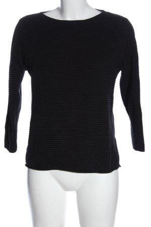 More & More Sweter z dzianiny czarny Wzór w paski W stylu casual
