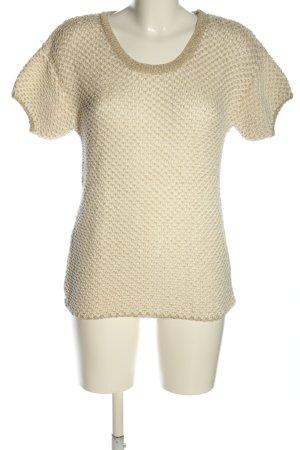 More & More Strickshirt creme-goldfarben Allover-Druck Casual-Look