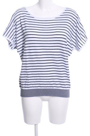 More & More Strickshirt weiß-schwarz Streifenmuster Casual-Look