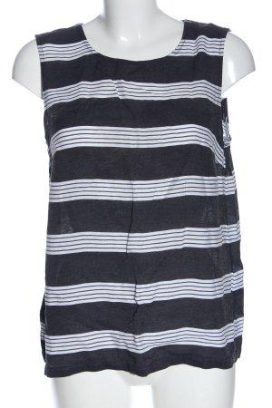 More & More Gebreide top blauw-wit gestreept patroon elegant