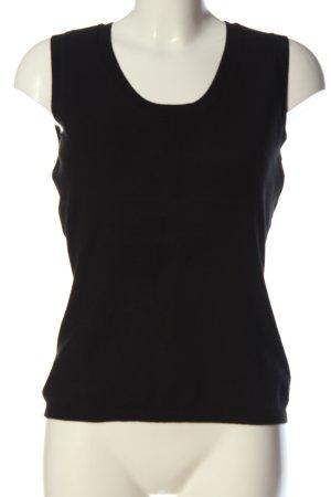 More & More Smanicato lavorato a maglia nero stile casual