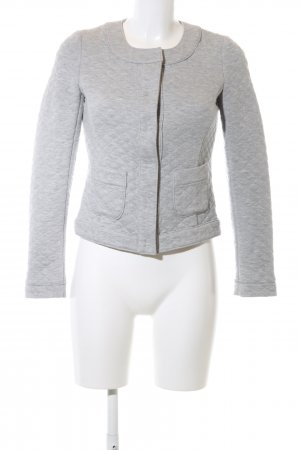 More & More Sweatblazer hellgrau meliert Casual-Look