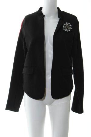 More & More Sweatblazer schwarz-dunkelrot Elegant