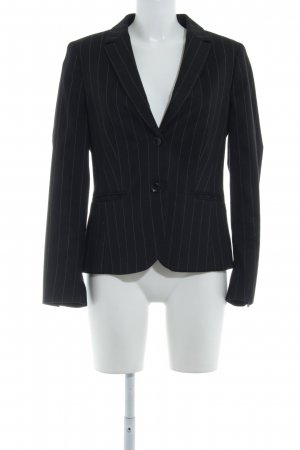 More & More Sweatblazer schwarz-hellgrau Business-Look