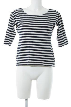 More & More Sweatshirt dunkelblau-wollweiß Streifenmuster Casual-Look