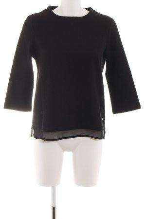 More & More Sweatshirt schwarz Casual-Look