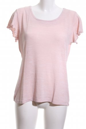 More & More T-Shirt pink meliert Casual-Look