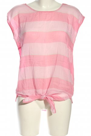 More & More T-Shirt pink Streifenmuster Casual-Look