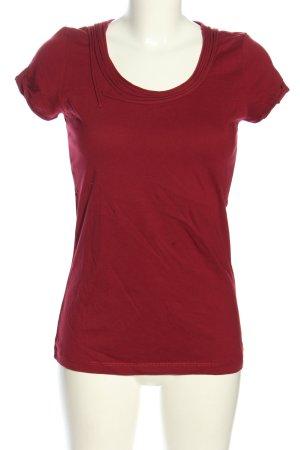 More & More T-shirt czerwony W stylu casual