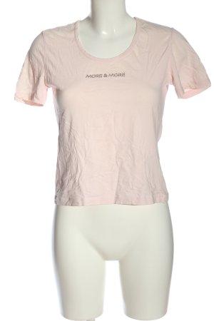 More & More T-Shirt creme Schriftzug gedruckt Casual-Look