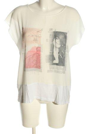 More & More T-Shirt Motivdruck Casual-Look